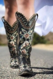 Floral Embroidered Cowgirl Boots