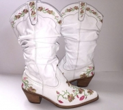 White Embroidered Cowgirl Boots