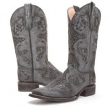 Womens Extra Wide Calf Cowgirl Boots