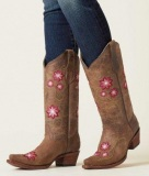 Womens Extra Wide Calf Western Cowgirl Boots