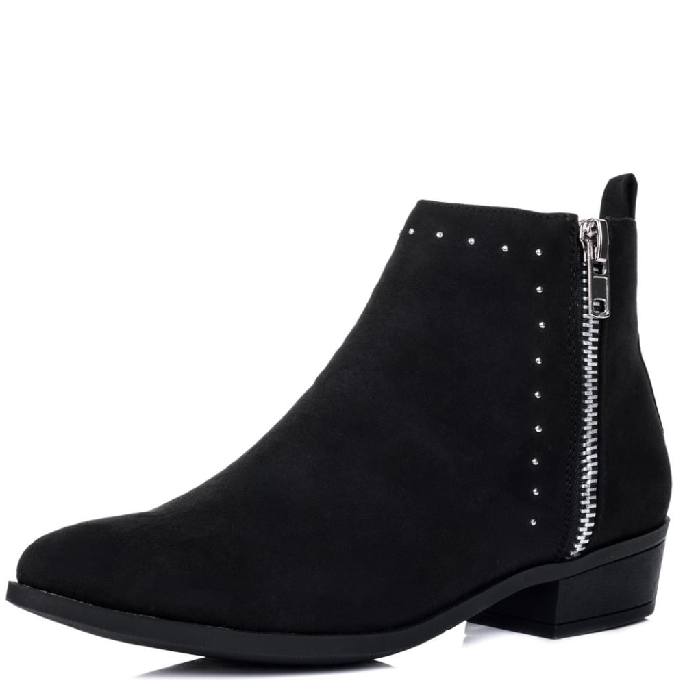 flat black ankle boots for women online boots