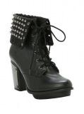 Black Combat Boots with Heels