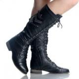 Black Heel Combat Army Boots