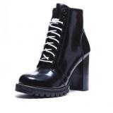 Combat Boots with Block Heels