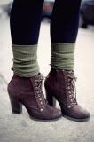 Fancy Heeled Combat Boots