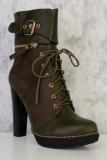 Heel Combat Boots