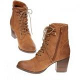 Suede Heeled Combat Boots
