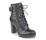 Womens Heeled Combat Boots