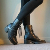 Chunky Heel Combat Boots