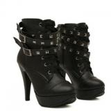 Combat Boots with Heels