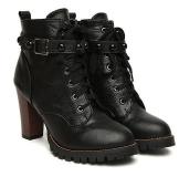 Combat Heel Boots