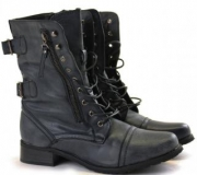 Flat Heeled Combat Boots