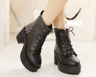 Heeled Military Style Boots