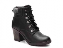 Lace Up Combat Boots with Heels