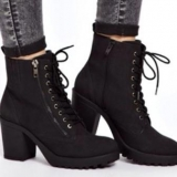Thick Heeled Combat Boot
