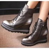 Wedge Heel Combat Boots