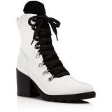 White Heeled Combat Boots