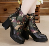 Womens Combat Boots with Heel