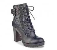 Womens Heeled Combat Boots