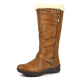 Brown Knee High Boot For Wide Leg