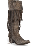 Knee High Boots With Fringe
