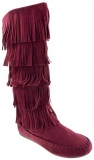 Women's Knee High Fringe Boots