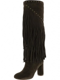 Knee High Cowboy Boots With Fringe
