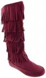 Women's Knee High Fringe Boots