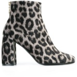 Grey Leopard Ankle Boots