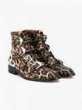 Ladies Leopard Ankle Boots