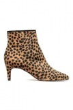 Leopard Heel Ankle Boots