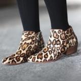 Sam Edelman Leopard Ankle Boots