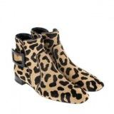 Short Leopard Ankle Boots