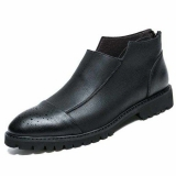Black Low Cut Slip On Work Boots