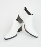 White Low Cut Slip On Work Boots