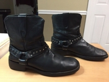 Black Harness Boots Men