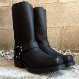Men's Black Harness Boots