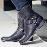 Men's Black Harness Boots Sale