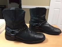 Black Harness Boots Men