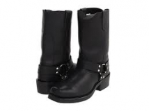 Black Harness Boots for Men