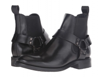 Black Harness Chelsea Boots for Men