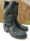 Harness Boots Black for Men