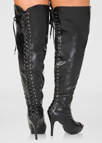 a5fcaad1fd7 Knee High Heel Boots Plus Size
