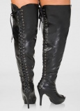 Knee High Heel Boots Plus Size