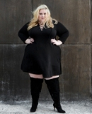 Plus Size Black Knee High Boots