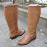 Plus Size Tan Knee High Boots