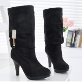 Plus Size Wide Calf Knee High Boots