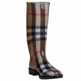 Plaid Rain Boots for Women