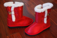 Red Fur Boots for Girls