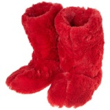 Red Furry Boot
